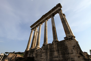 Temple of Saturn in Foro Romano, Rome, Italy