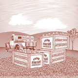 Produce Truck Landscape