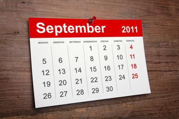 Kalender September 2011