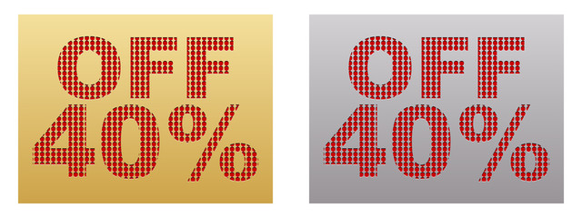forty percent discount banner