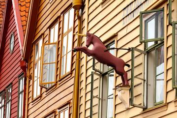 Bergen (Norwegen), Altstadt - Bergen (Norway), Old Town