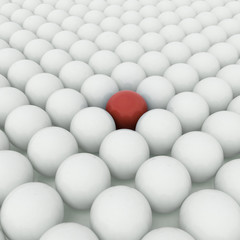 Different red ball