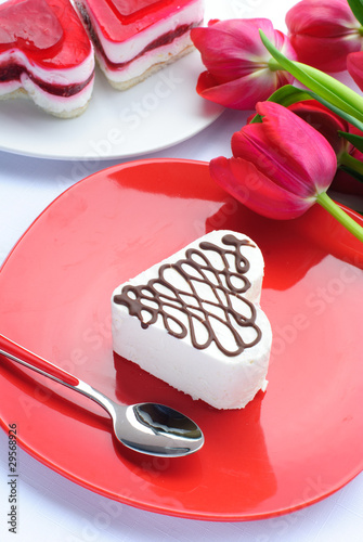 Valentine's day cakes and flowers