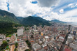 View from above of downtown Bogota in Colombia