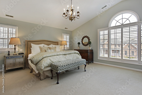 Master bedroom with circular window