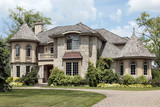 Fototapety Luxury stone home with turret