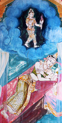 Painting on window, Nong Wang Pagoda, Khon Khan