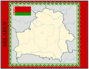 Belarus national emblem map coat flag business background