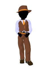 African American Teen Business Illustration