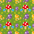 seamless mushroom pattern