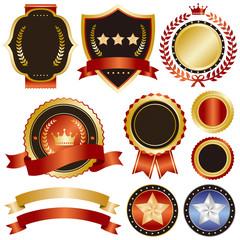 gold and red emblem set 2