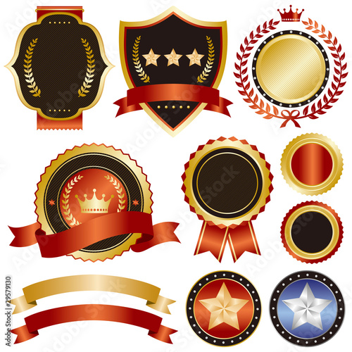 gold and red emblem set 2