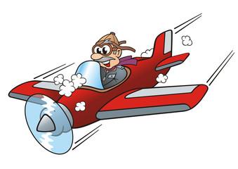 Pilot Nose Diving with Aircraft