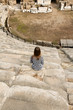 Girl in the amphitheater