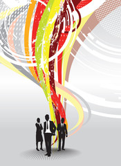 abstract business people background
