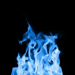 Burning gas flames