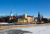 Riga castle- the residence of the Latvian president poster