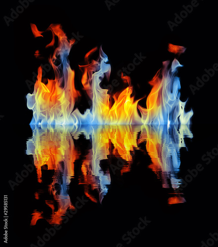 Fiery reflection