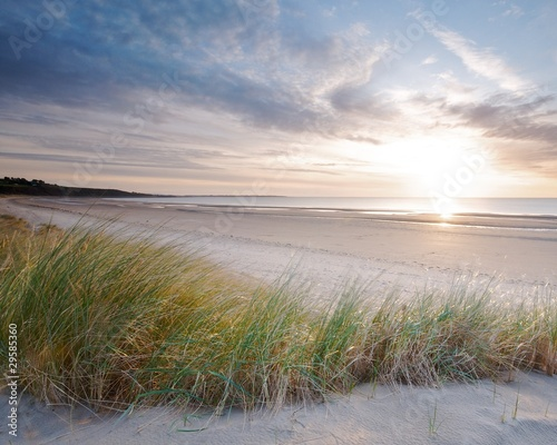 Harlech beach sunset