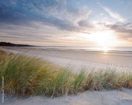 Naklejka Harlech beach sunset