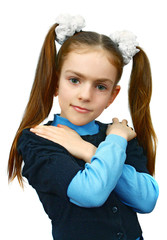 girl with hands on shoulders