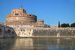 Canoing under the Castel Sant'Angelo,