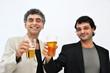 Quadro Amici brindano con un bicchiere di birra