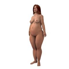 übergewichtige Frau
