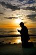 Praying at the Sea