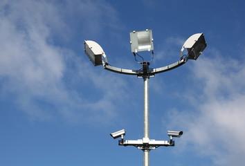 Security Lights And Surveillance Cameras Horizontal