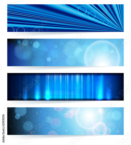 Vector set of abstract banners. Blue Design. EPS10 Vector Backgr