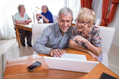 Seniors using internet