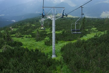 Ski Lift Chair at Jasna, Low Tatras, Slovakia