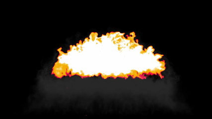 Explosion with slow motion. Alpha channel is included