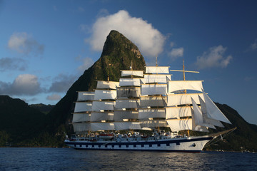 Five masted clipper ship