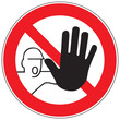 Zeichen Zutritt für Unbefugte verboten
