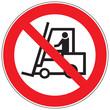Zeichen Für Flurförderzeuge verboten