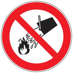 Zeichen Mit Wasser löschen verboten
