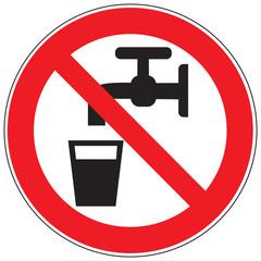 Zeichen Kein Trinkwasser