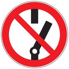 Zeichen Schalten verboten
