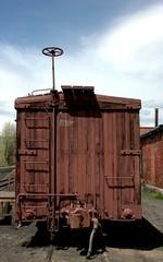 Antique narrow gauge rail car