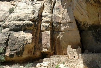 Detail of Cliff Palace, Anasazi ruin at Mesa Verde