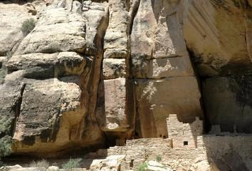 Detail of Cliff Palace, Anasazi ruin at Mesa Verde