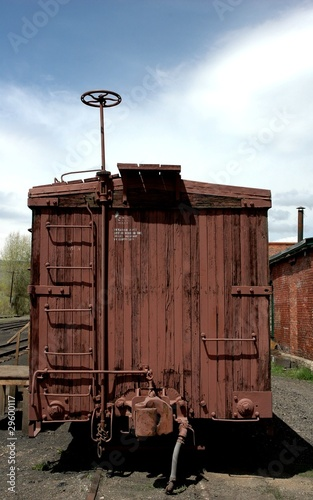 Antique narrow gauge rail car