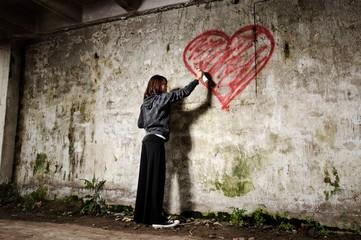 grunge valentine girl