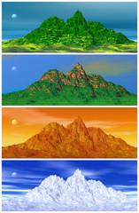 Mountain and four seasons