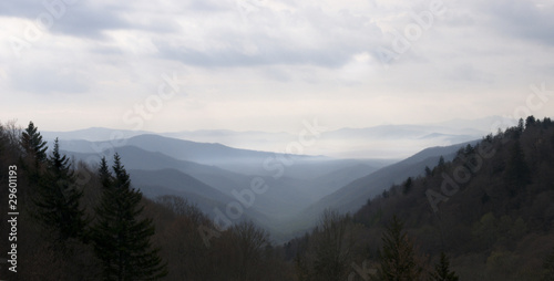canvas print picture Smoky Mountain Sunset