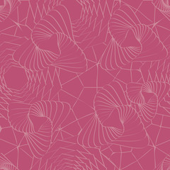 Trendy Honeysuckle Pink Colored Seamless Pattern