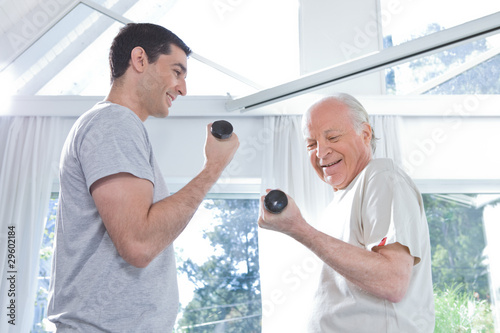 Exercising with a trainer