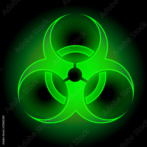 Glowing Biohazard Sign